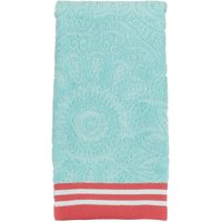 "Mainstays Cotton 15"" x 26"" Groovy Medallion Sculpted Hand Towel, 1 Each"