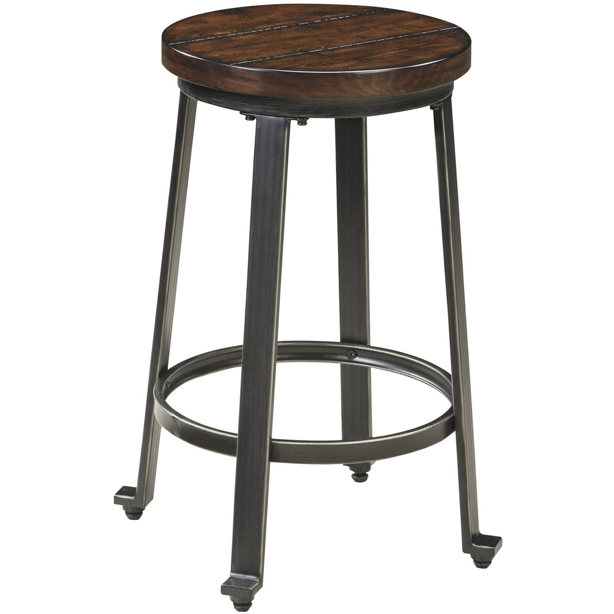 Challiman 23.5u0022 Barstool (Set of 2) Brown Clay - Signature Design by Ashley