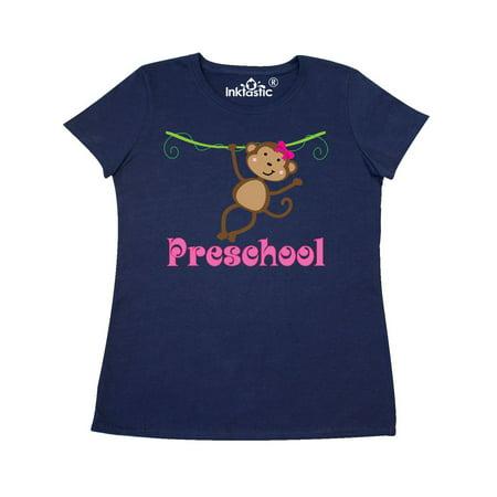 Preschool Teacher Monkey Women's T-Shirt - Naughty School Teacher