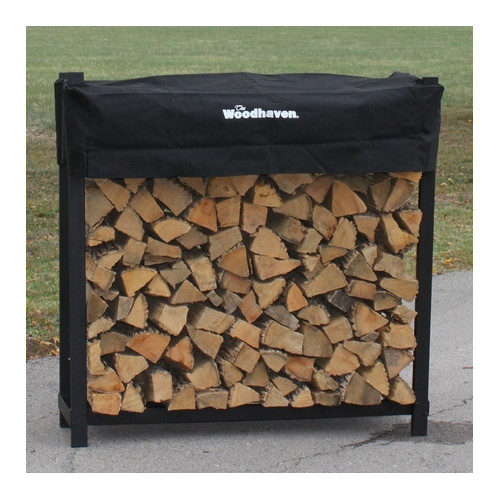 4 Foot Firewood Rack w Standard Cover