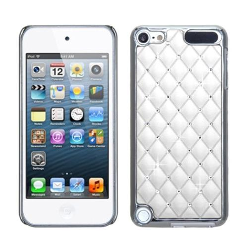 Insten Ivory White Silver Plating Lattice Alloy Elite Dazzling Back Case for iPod touch (5 5G 5th 6 6G 6th Gen)