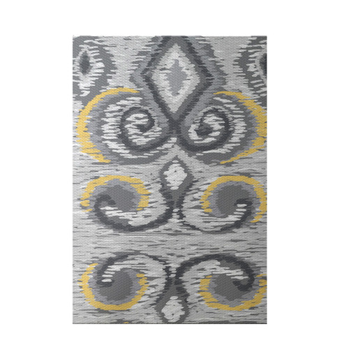 e by design Ikat's Meow Geometric Print Paloma Indoor/Outdoor Area Rug