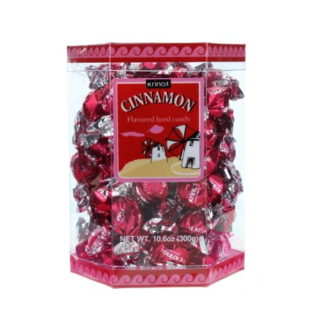Colorful Candy (Krinos Ouzo Cinnamon Flavored Hard Candy, Individually Wrapped, Unique & Colorful, Perfect for Parties - 10.6oz)
