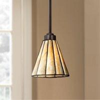 "Robert Louis Tiffany Tiffany Style 7 1/2"" Wide Honey Glass Mini Pendant"