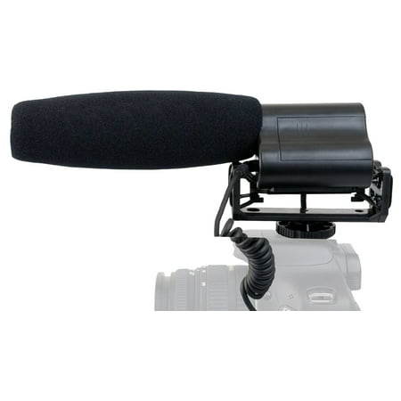 Shotgun Microphone (Stereo) With Windscreen & Dead Cat Muff For Fujifilm