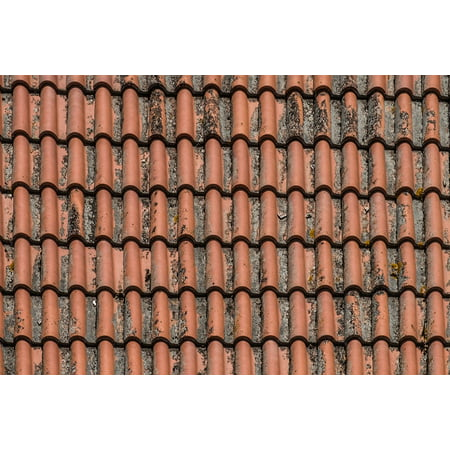 Canvas Print Texas Roof Andalusia Construction Mud Tile Stretched Canvas 10 x 14