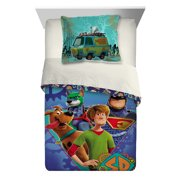 SCOOB! Scooby-Doo 2-Piece Comforter and Sham Set, Kids Bedding, Twin/Full