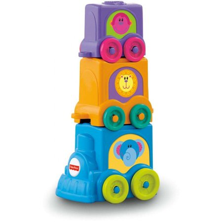 Fisher-Price Growing Baby Stack & Roll Choo-Choo (Fisher Price Growing Baby Elephant Shape Sorter)