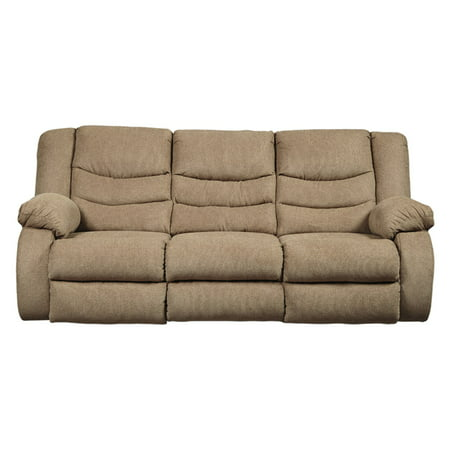 Signature Design by Ashley Tulen Reclining Sofa Chocolate Reclining Sofa
