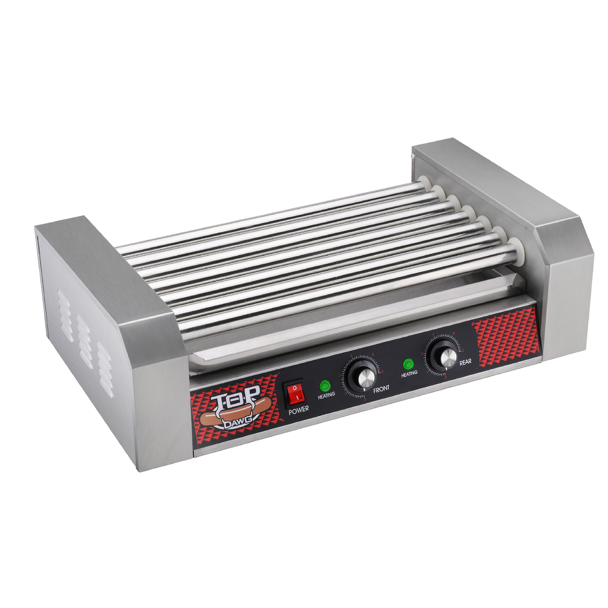 Commercial Quality 18 Hot Dog 7 Roller Grilling Machine 1400Watts by Great Northern Popcorn