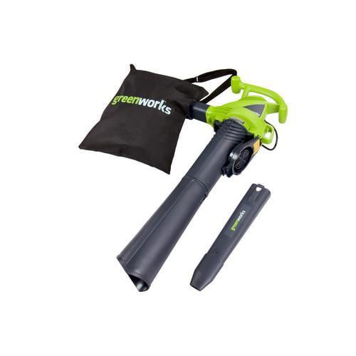 Greenworks 24022 12 Amp Two Speed Electric Mulcher Blower Vac
