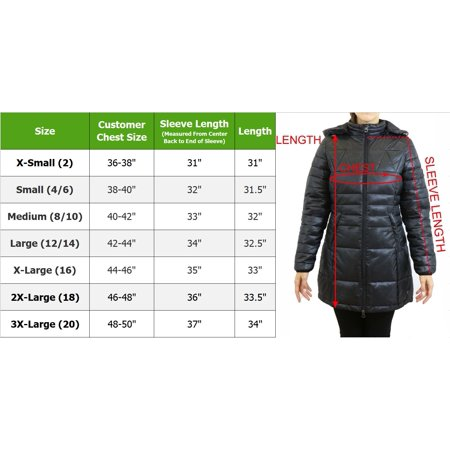 Women's Silhouette Style Puffer Jacket With Detachable Hood - image 3 of 6