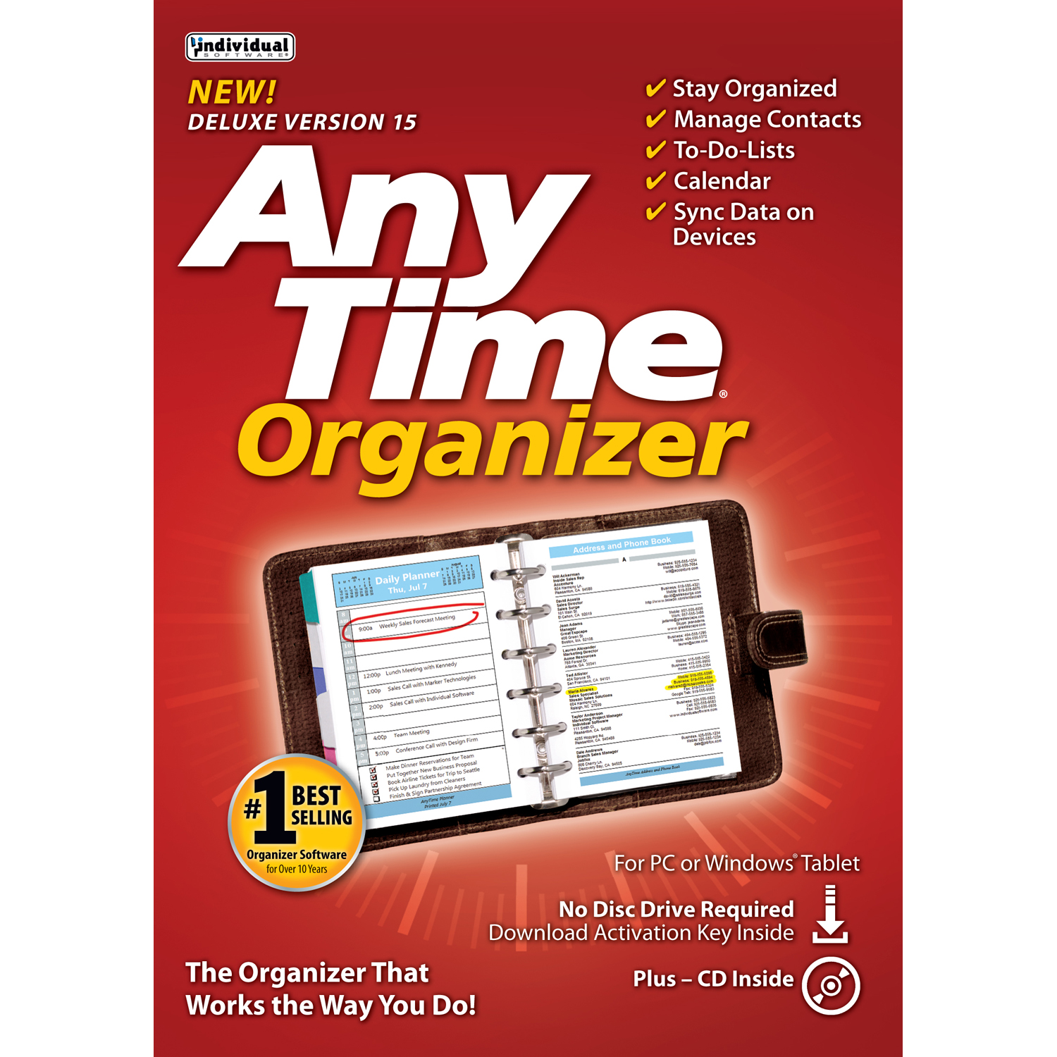 Anytime Organizer Deluxe 15 (Email Delivery)