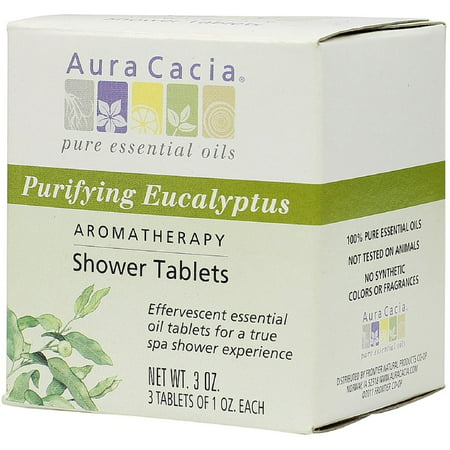 - Aura Cacia Aromatherapy Shower Tablets, Purifying Eucalpytus 3 ea