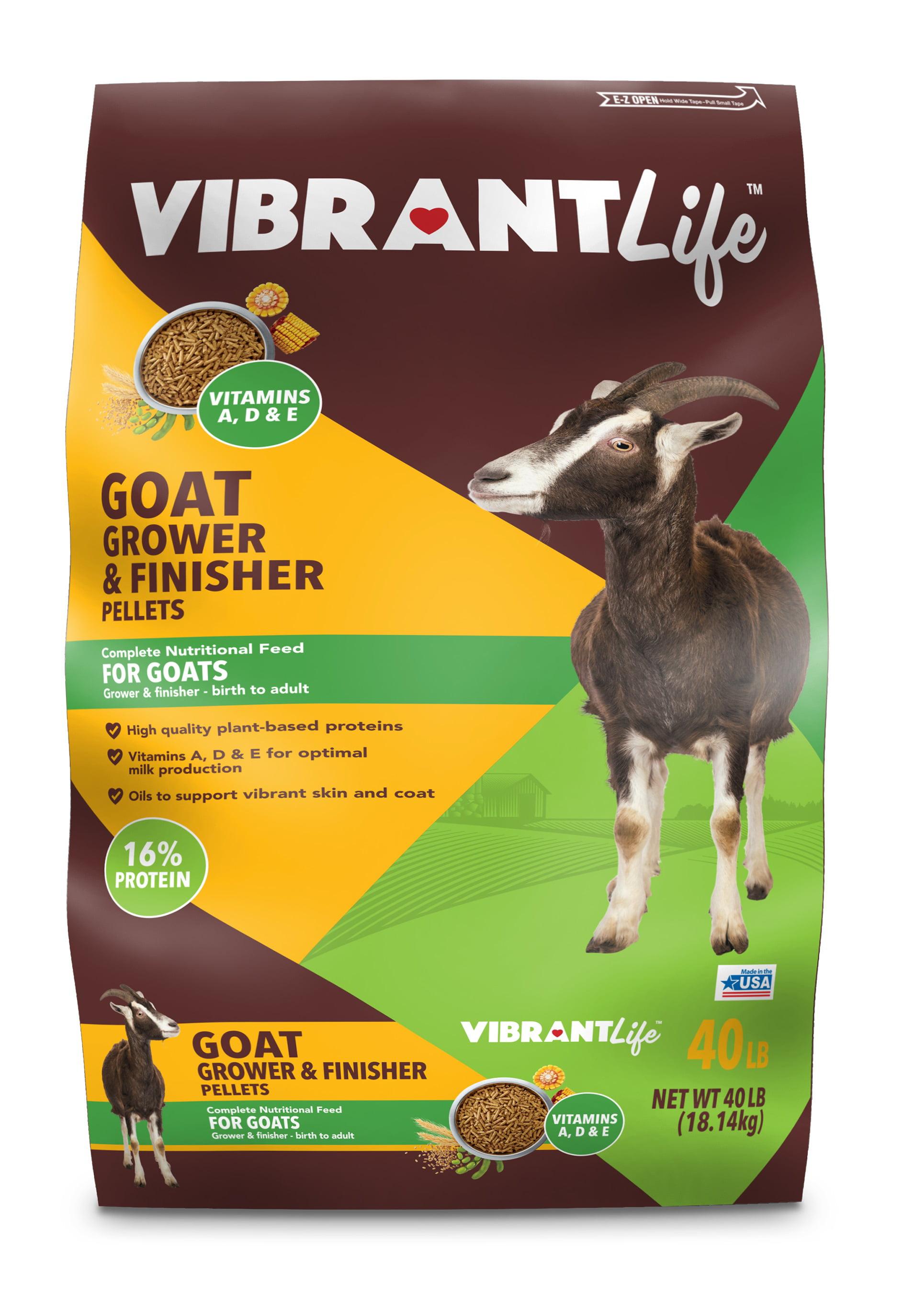 Vibrant Life Goat Grower Finisher Pellets 40 Lbs Walmart