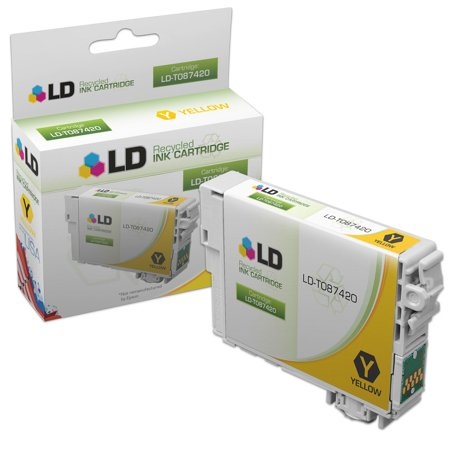 LD Remanufactured Replacement for Epson T087420 (T0874) Yellow Inkjet Cartridge for use in Epson Stylus Photo R1900