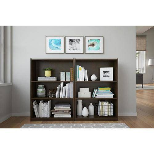Ameriwood 3-Shelf Bookcases, Set of 2 (Mix and Match)