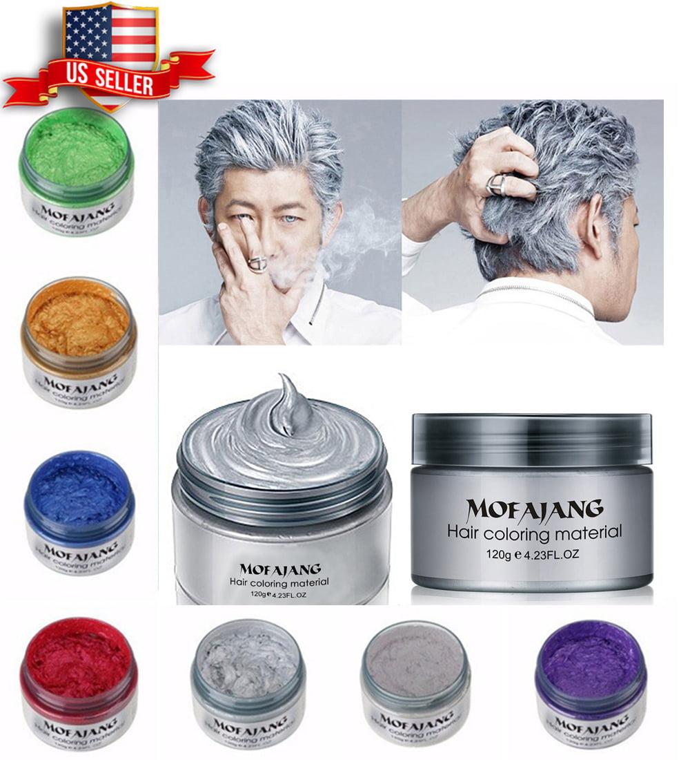 Unisex DIY Hair Color Wax Mud Dye Cream Temporary Modeling 7 Colors VeniCare GREEN