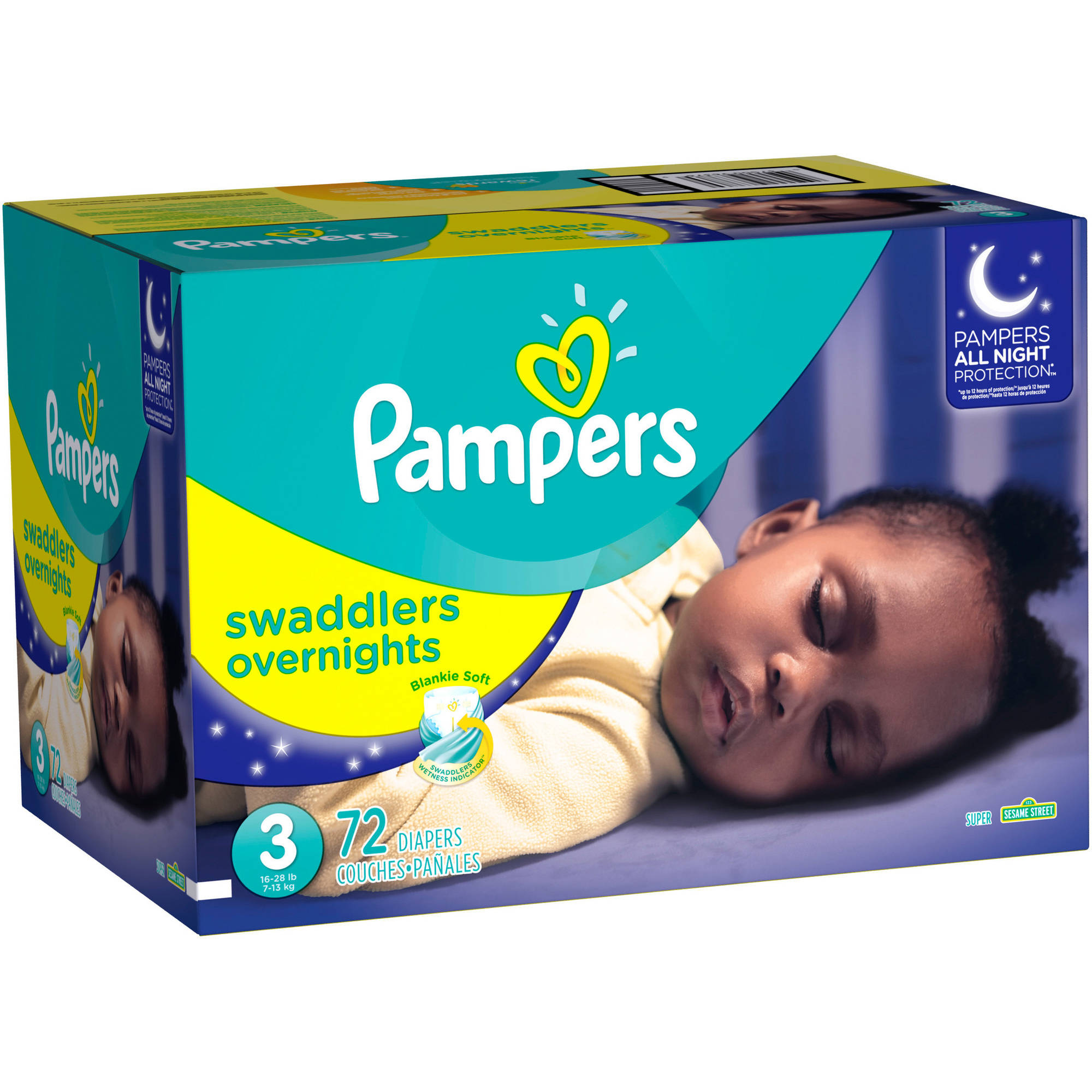 Pampers Swaddlers Overnights Diapers, (Choose Your Size)