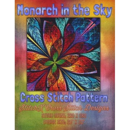 Monarch in the Sky Cross Stitch Pattern - image 1 de 1