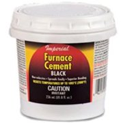 IMPERIAL MFG GROUP USA INC Furnace Cement, Black, 16-oz. KK0295-A