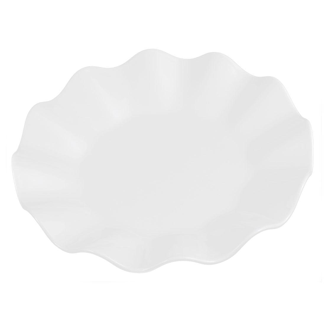 Restaurant Wavy Edge Pastry Appetizer Dessert Dish Plate White 16cm Dia by