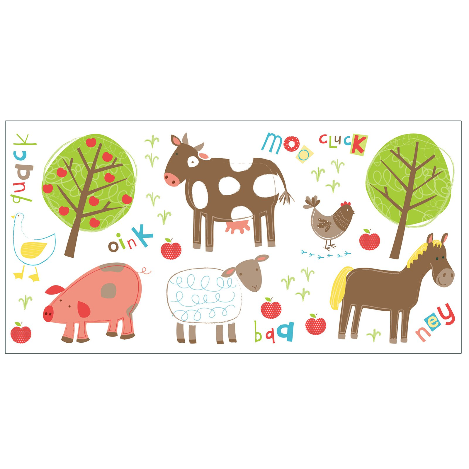 Fun4Walls Farm Wall Stickers - Set of 50