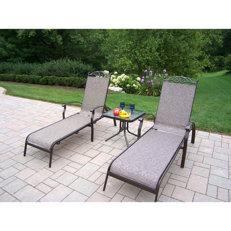 Oakland Living Cascade Sling Chaise Lounge Set by Oakland Living