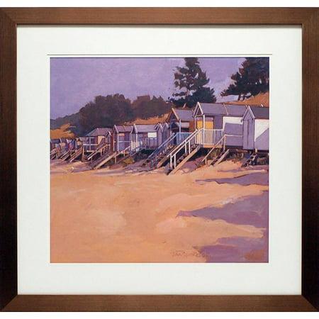 North American Art 'Beach Huts' Framed Print