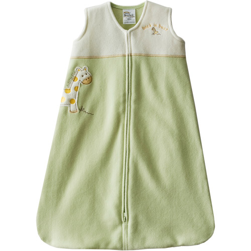 Halo - SleepSack Wearable Fleece Blanket, Lime Giraffe Applique, Medium