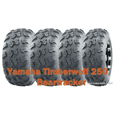 Set 4 WANDA UTV ATV Tires 22x7-10 & 22x10-10 Yamaha Timberwolf 250 Beartracker (Yamaha Atv Accessories)
