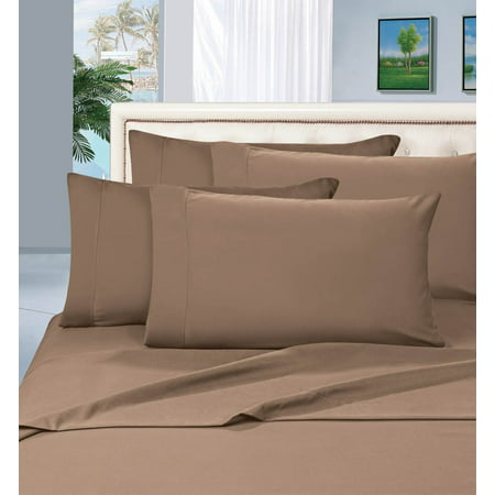 Elegant Comfort® 1500 Thread Count Egyptian Quality 2pcs PILLOW CASES - ALL SIZES AND COLORS, Queen, Taupe ()