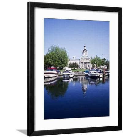 Kingston Ontario Canada (City Hall and Marina, Kingston Ontario, Canada Framed Print Wall Art By Mark Gibson)