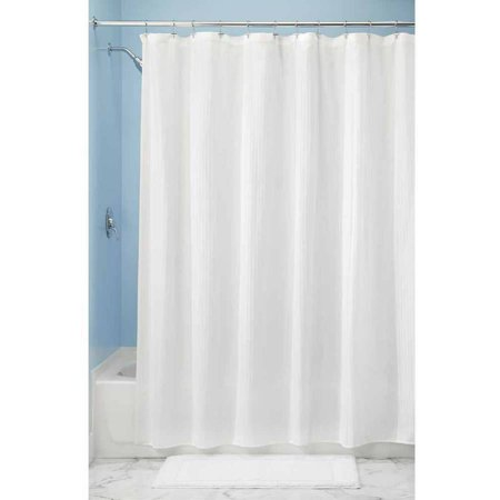 interdesign hugo fabric shower curtain standard 72 x 72 white. Black Bedroom Furniture Sets. Home Design Ideas