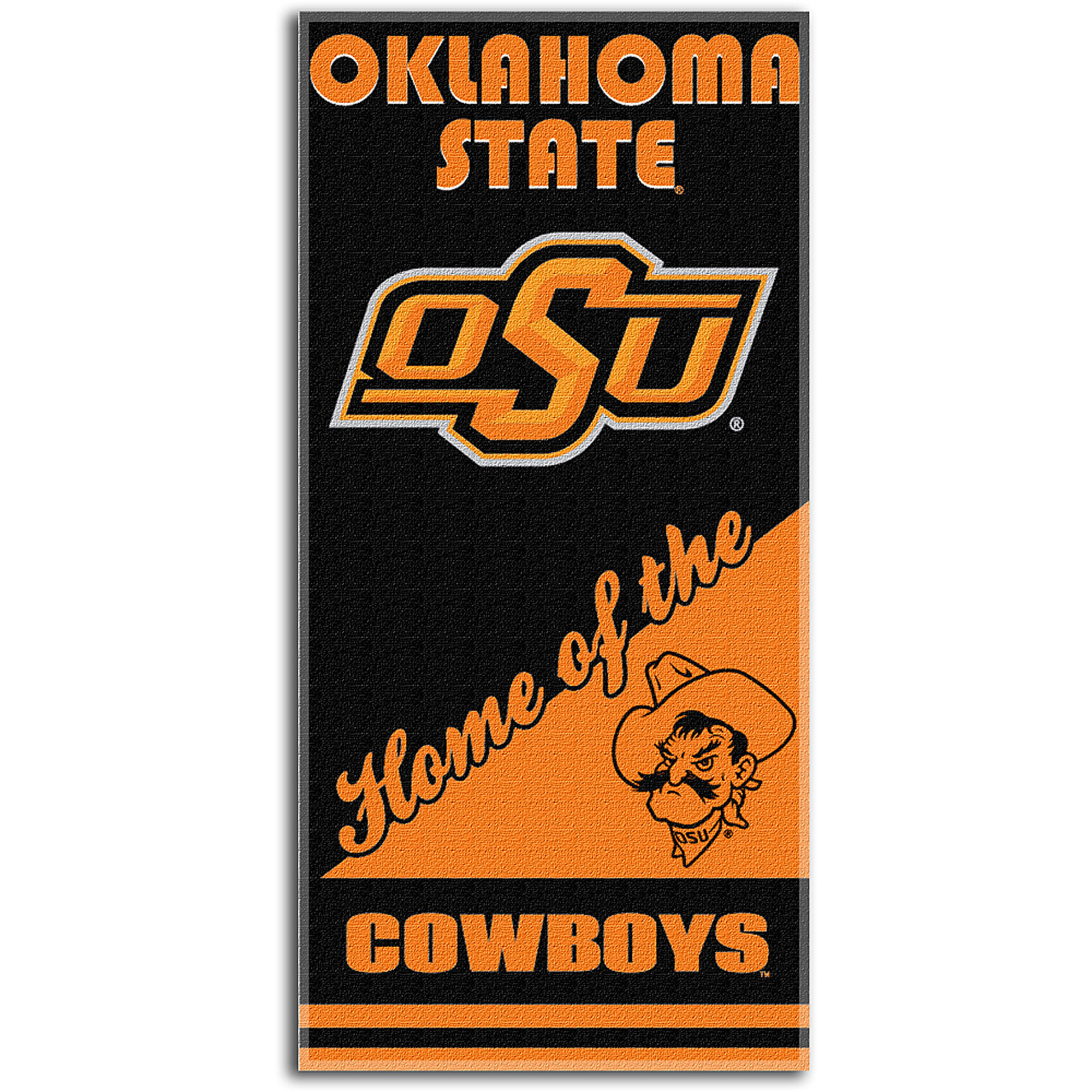 The Northwest Company NCAA Oklahoma State Cowboys Emblem Beach Towel, 28-Inch by 58-Inch