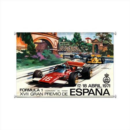 Past Time Signs JG162 Spanish Formula 1 Automotive Giclee Printed Canvas