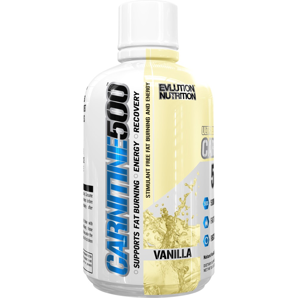 Evlution Nutrition Carnitine500 Energy Drink, Vanilla, 16 Fl Oz, 93 Servings