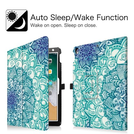 Fintie iPad Air 3 2019 Case / iPad Pro 10.5-inch Folio Tablet Cover with Auto Sleep / Wake, Emerald Illusions - image 4 of 7