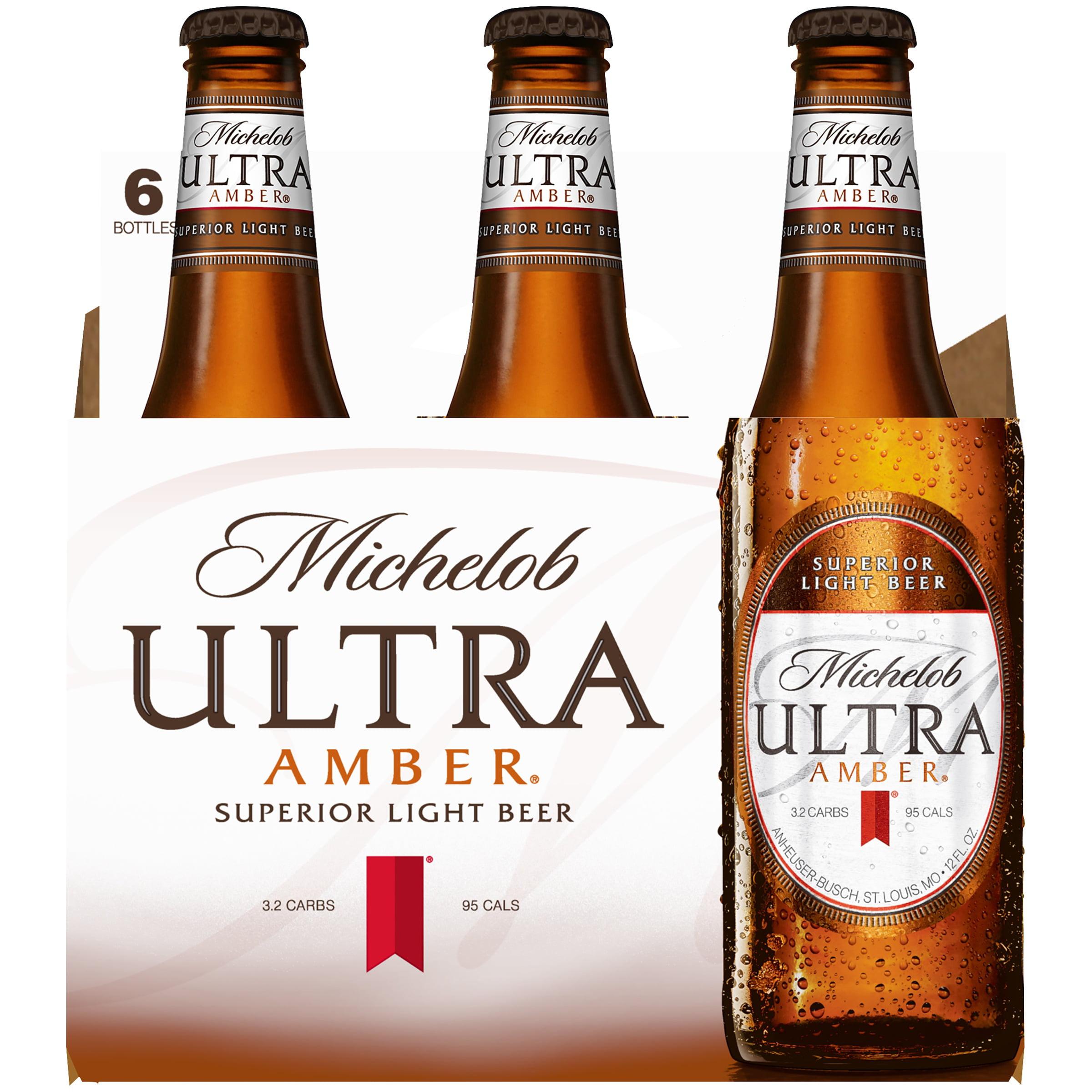 Michelob Ultra Amber Lager, 6 Pk 12 Fl. Oz. Bottles   Walmart.com