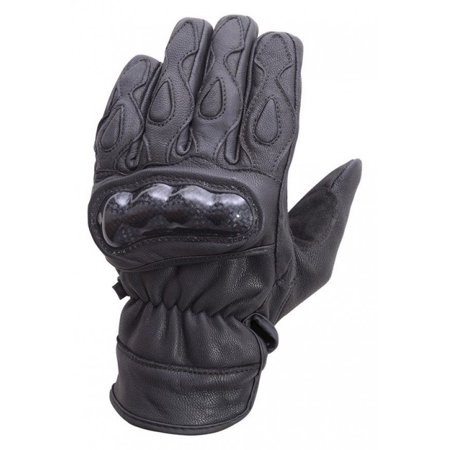 H2o Motorcycle Gloves - Motorcycle Carbon Fiber Knuckle Leather Riding Gloves Black MG7 (S)