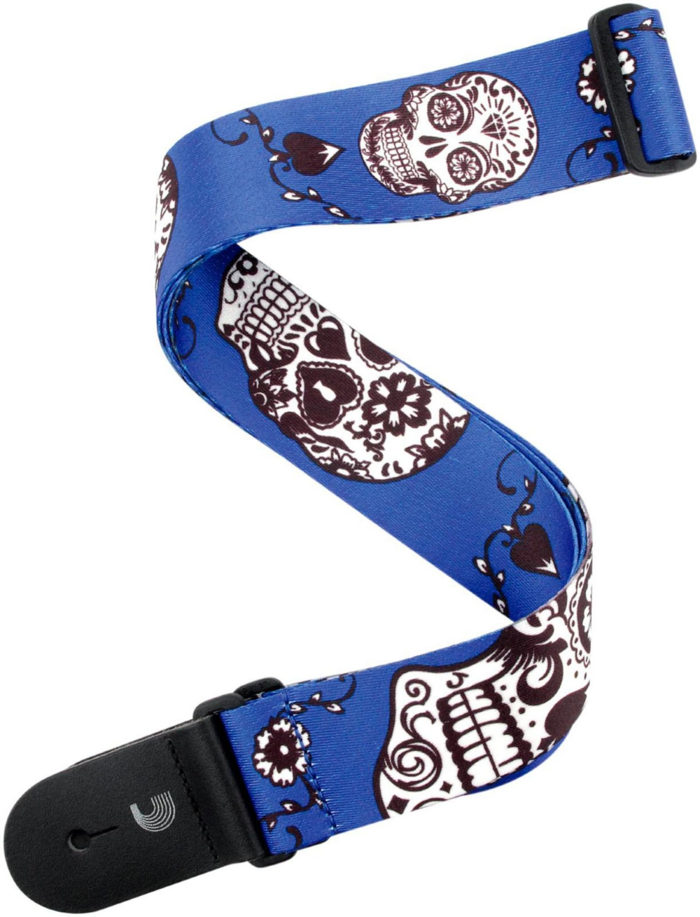 """D'Addario Planet Waves 2"""" Polyester Guitar Strap, Sugar Skulls, by D'Addario Blue by D'Addario Planet Waves"""