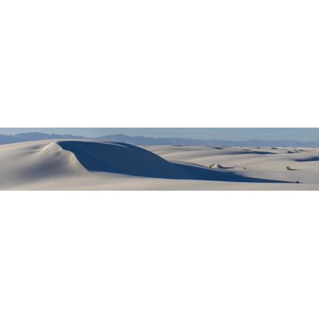 Sand Dunes At White Sands National Monument New Mexico Usa Canvas Art   Panoramic Images  27 X 9