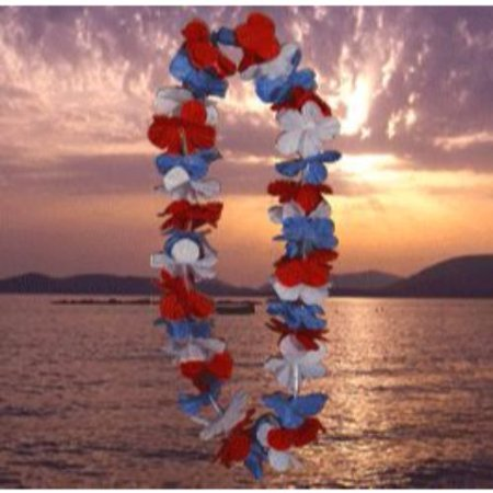 Red And White Leis (Light Up Hawaiian Lei Red White and)