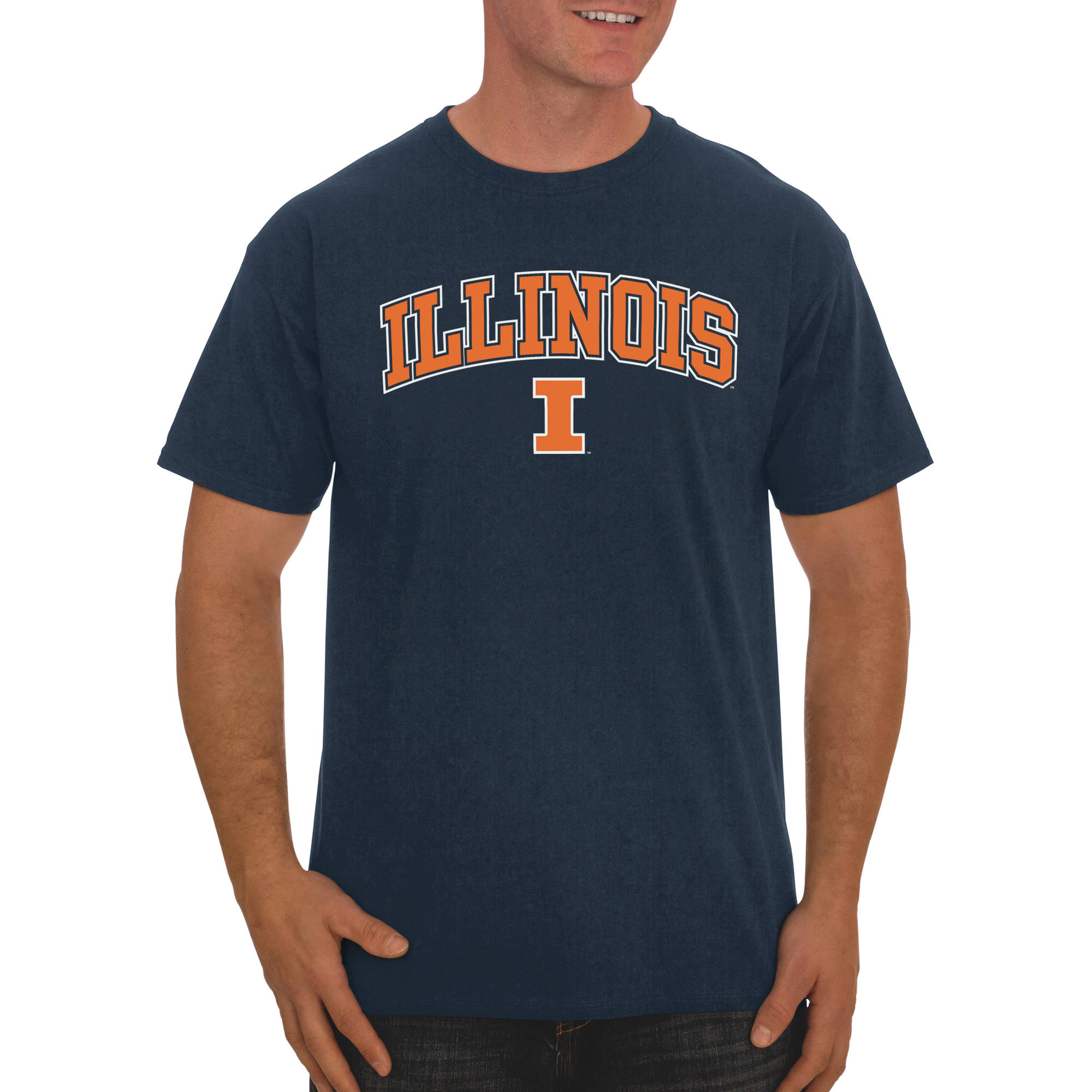 Russell NCAA Illinois Fighting Illini Men's Classic Cotton T-Shirt
