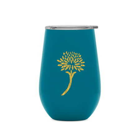 Collection Tumbler (Patricia Heaton Home Southampton Collection Simple Modern Spirit 12oz Wine Tumbler - INDIVIDUAL Vacuum Insulated Double Wall - 18/8 Stainless Steel - Blue )