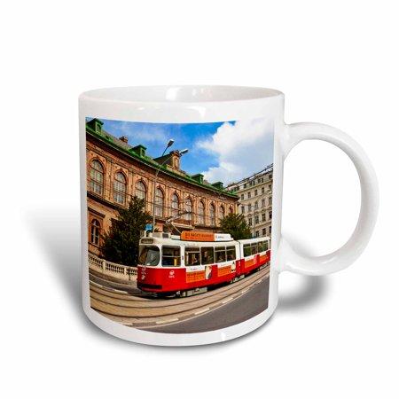 Herend Vienna Rose (3dRose Cable car, Ringstrasse of Vienna, Austria - EU03 MGL0039 - Miva Stock, Ceramic Mug, 11-ounce )