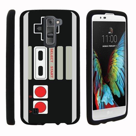 Lg K7  Lg Treasure  Lg Tribute 5   Snap Shell  Matte Black  2 Piece Snap On Rubberized Hard Plastic Cell Phone Cover With Cool Designs   Game Controller