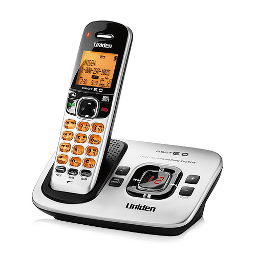Uniden D1780 DECT 6.0 Expandable Cordless Phone with Digital Answering System