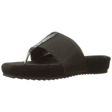 Annie Shoes Womens Jana Snake Print Slide Thong Sandals