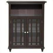 Elegant Home Fashions Heritage Double Door Floor Cabinet, Dark Espresso